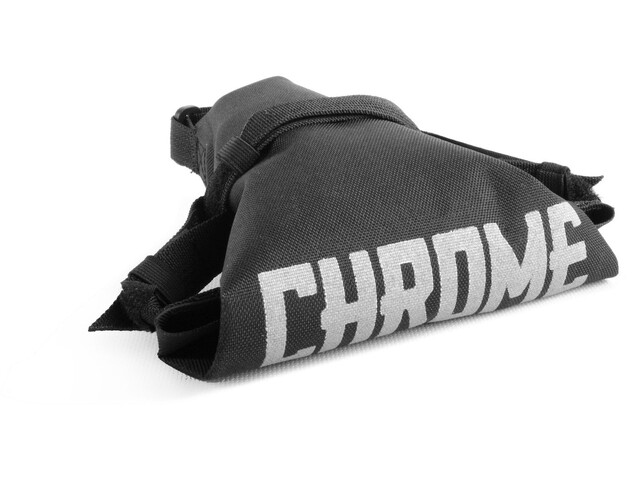Chrome Knurled Seat Bag Black